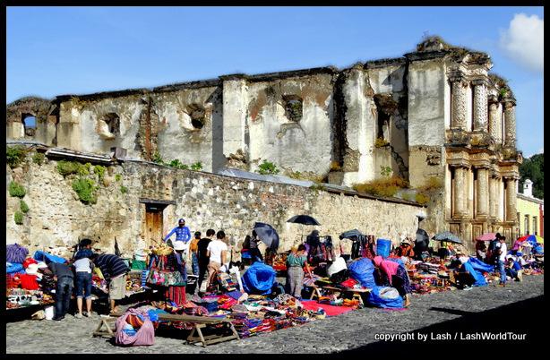 Mayan street market in Antigua