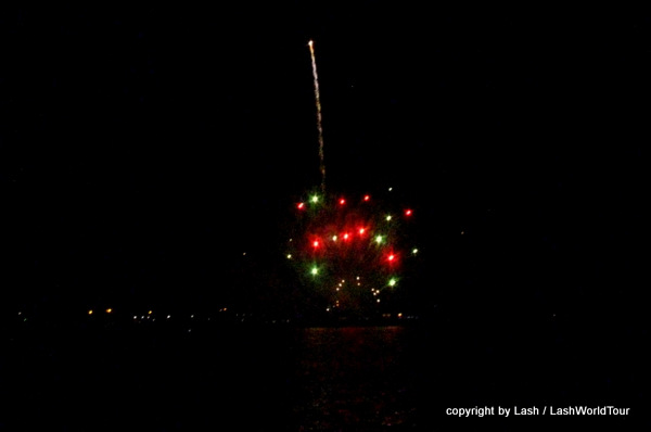 fireworks at st pete florida happy new year