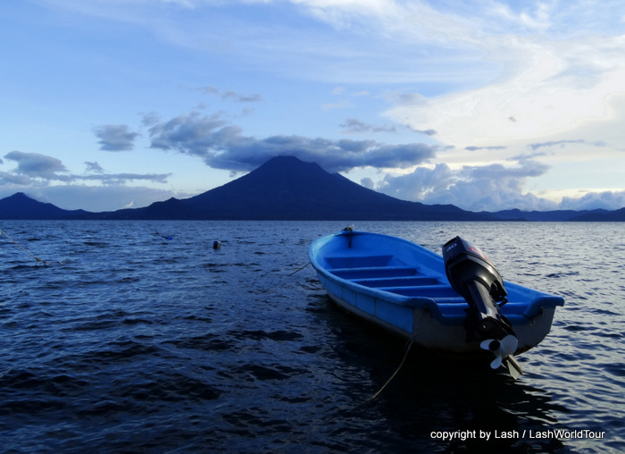 one of 12 photos of Toliman Volcano with boat