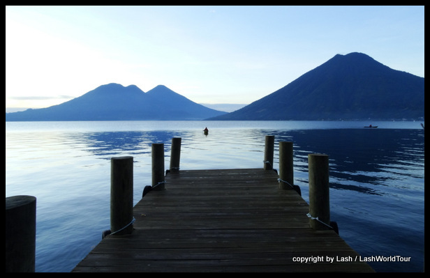 Volcanoes at Lake Atitlan