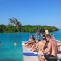 bathers at The Split - Caye Caulker