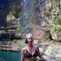LashWorldTour at waterfall cenote - Yucatan - Mexico