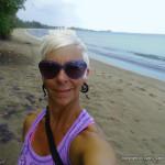 enjoying a north coast beach in Puerto Rico