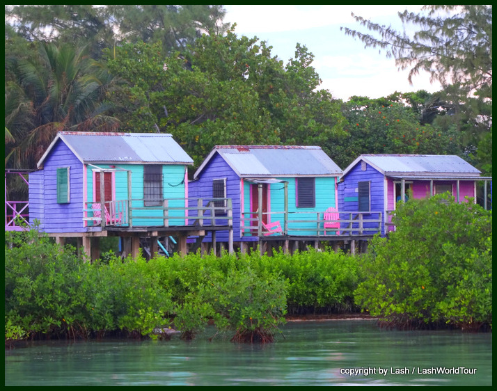 rustic cabins on Caye Caulker
