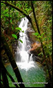Waterfall near Humming Bird Guest House Lodge