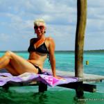 suntanning at Laguna Bacalar - Yucatan