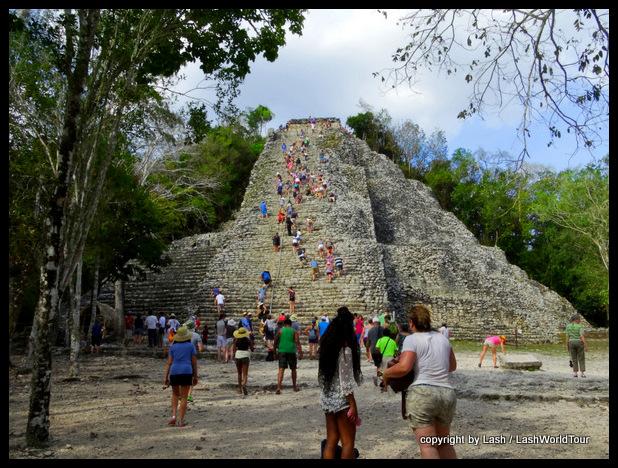 Coba Pyramid - Mayan ruins - Mexico
