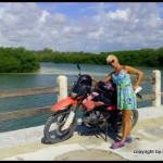 Lash in Sian Ka'an on bike trip with Alejandro
