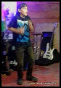 Max break dancing at Batey - Tulum