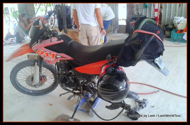 motorbike repair during road trip