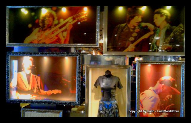 rock stars display at Hard Rock Hotel - Cancun
