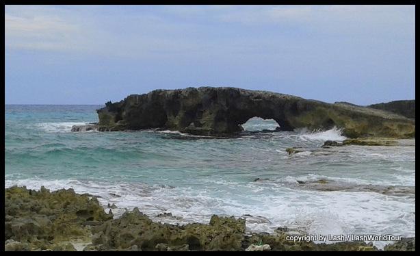 natural rock bridge at Cozumel Island