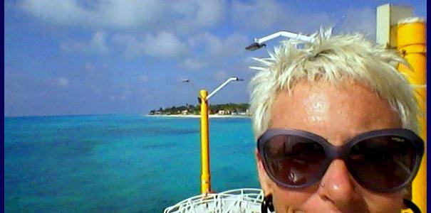 ... at Playa del Carmen pier