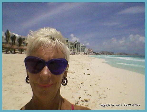 Lash on Cancun Beach