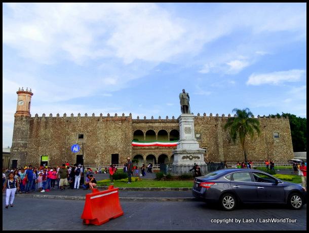 Spanish explorer Cortez's fort-like home in Cuernavaca, 1500s