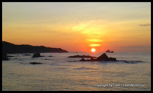 sunrise at Mazunte Beach