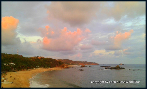 sunset at Mazunte Beach - Pacific coast of Mexico