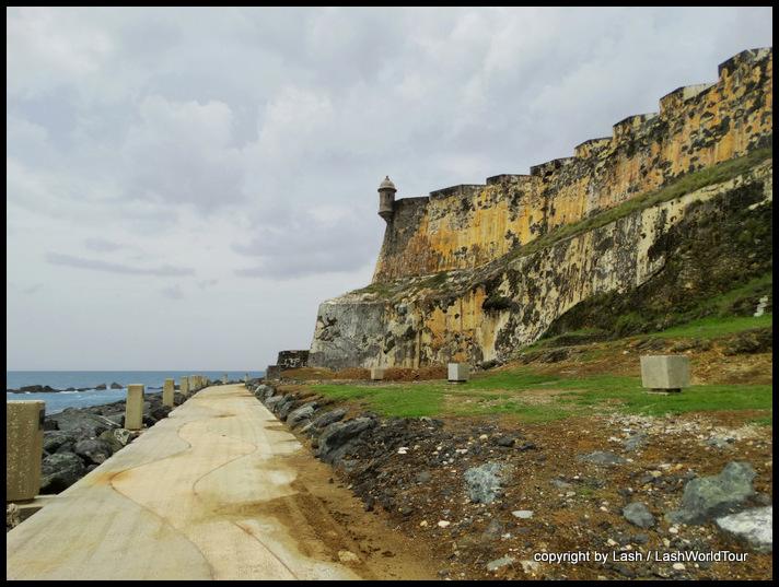 walkway around El Morro Fort - San Juan - Puerto Rico