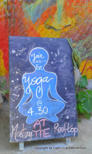 yoga sign - Isla Holbox - Mexico