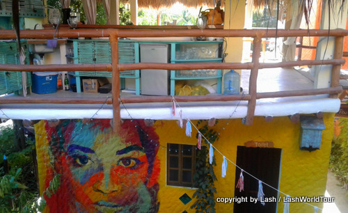 hostel at  Isla Holbox - Mexico