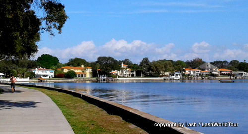 St Pete waterside park and Snell Island