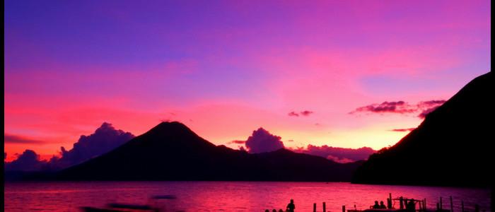 Lake Atitlan sunset - Guatemala