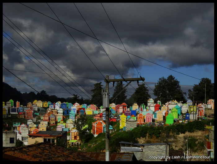 colorful cemetery in Guatemala