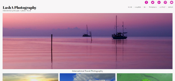 LashA Photography website screenshot