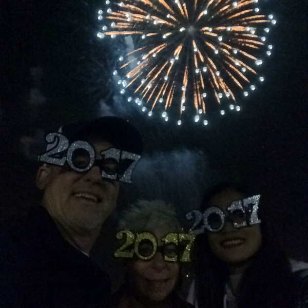 New Year's Eve 2017 with Brad & Pia