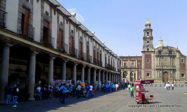 Plaza Santo Domingo with centuries-old printing shops and the Iglesia Santo Domingo