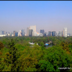 view over Chapultepec Park from the castle