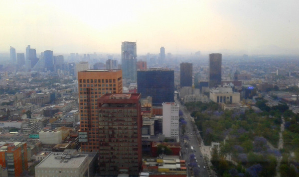View of Mexico City from Latin Americana Tower
