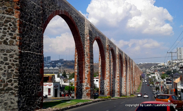 Historic aqueduct in Gueretaro - Mexico