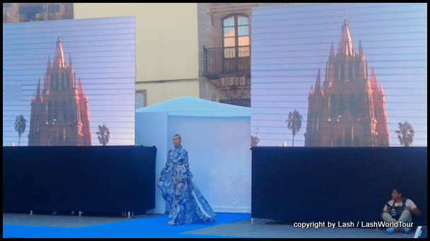 haute-couture fashion show at San Miguel's main plaza during Fashion Week