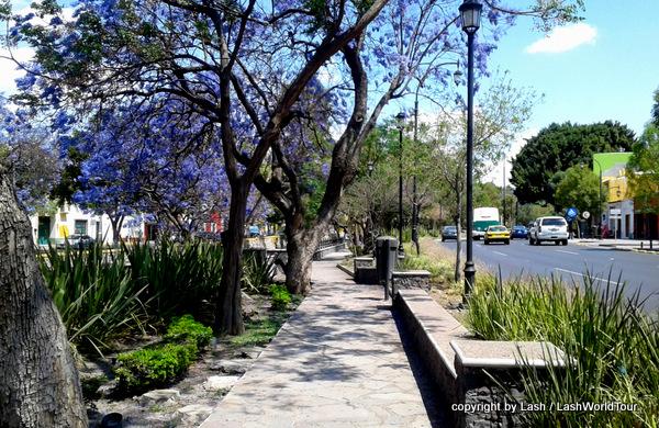 Garden-lined Gueretaro River