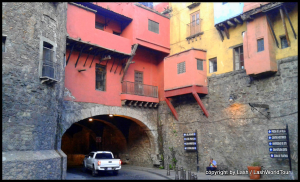 one of Guanajuato's many tunnel roads downtown