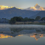 Himalayan Peaks seen from Pokhara - photo by Marina and Enrique on Flickr CC