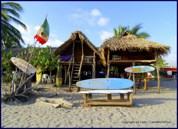 my cabana at San Blas - on the left