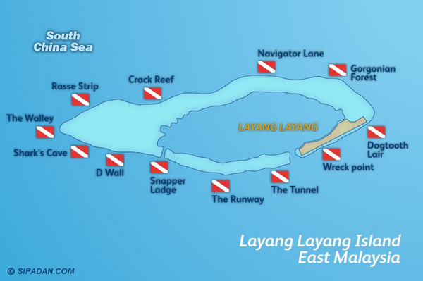 Layang-Layang-Dive-Site-Map