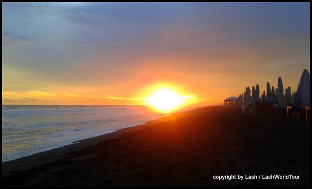sunset at Cuyutlan - MExico