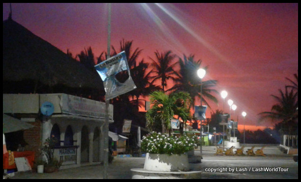 Cuyutlan - Mexico at sunset