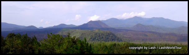 panoramic view of Volcan Paricutin