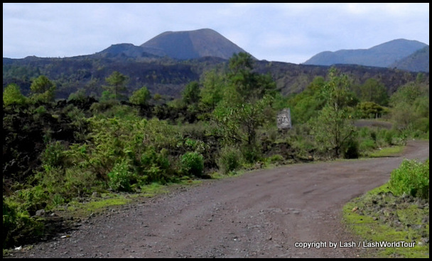 road to Paricutin Volcano through lava fields
