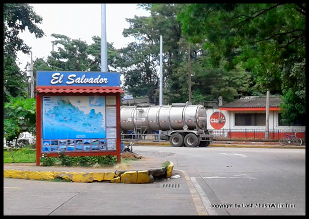 arriving in El Salvador from Guatemala