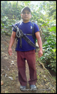 Carlos - our 7 waterfalls tour guide - all set with machete