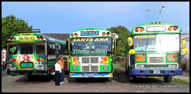 public buses in El Salvador