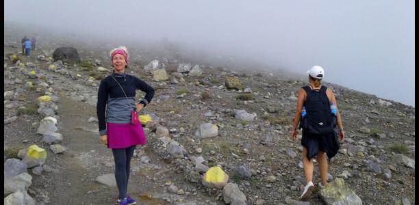 LashWroldTour near summit of Santa Ana Volcano - El Salvador