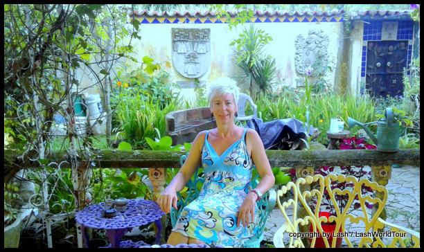 LashWorldTour in garden of Hostel Mazeta - El Salvador