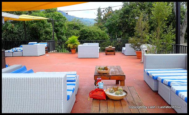 great rooftop terrace of my hostel in Tegus - Honduras