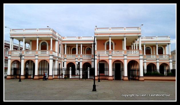 Grand colonial buildings in Granada